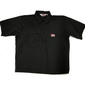 Vinatge Ben Davis Work Shirt 1/2 Zip Black SS